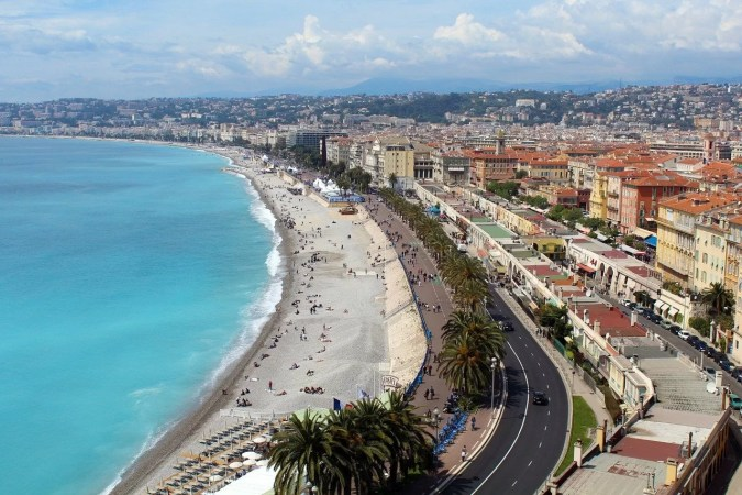 View of Nice seaside villages - French Riviera