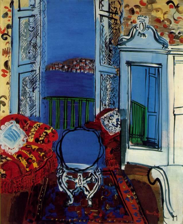 Raoul Dufy Painting entitled: Open Window, Nice