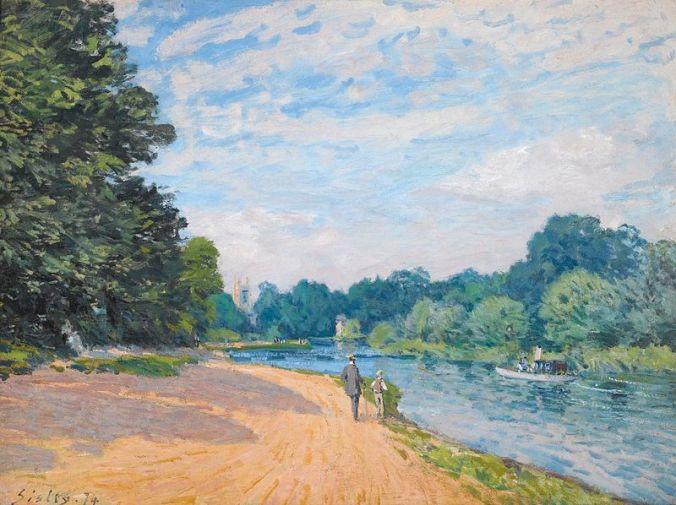 Alfred Sisley painting