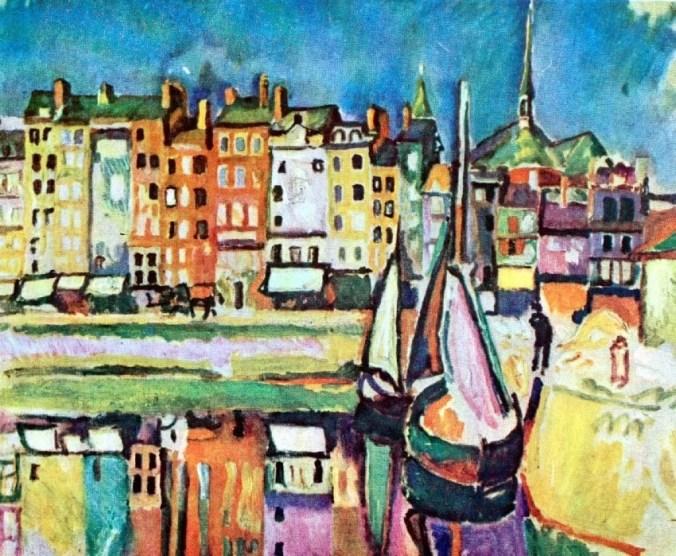 Landscape of Honfleur by Raoul Dufy