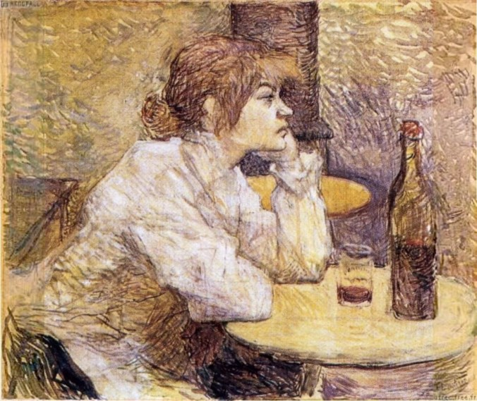 Toulouse Lautrec Painting - Absinthe drinker
