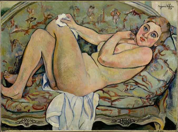 Reclining Nude - by Suzanne Valadon - one of the few female post impressionism painters