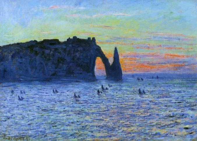 French landscapes - Etretat Painting by Claude Monet