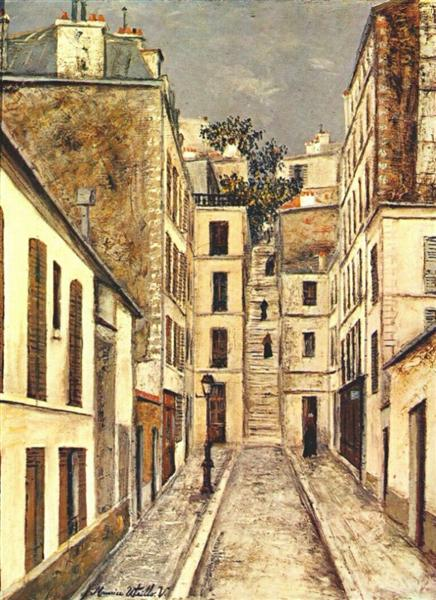 "The streets of Montmartre -Maurice Utrillo art from his ""White Period"""