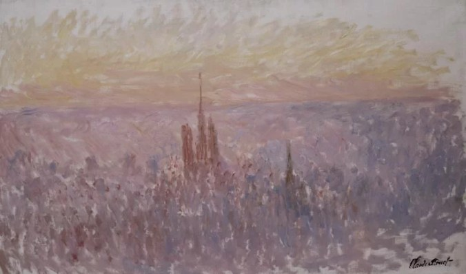 Art of Monet - Overlooking Rouen