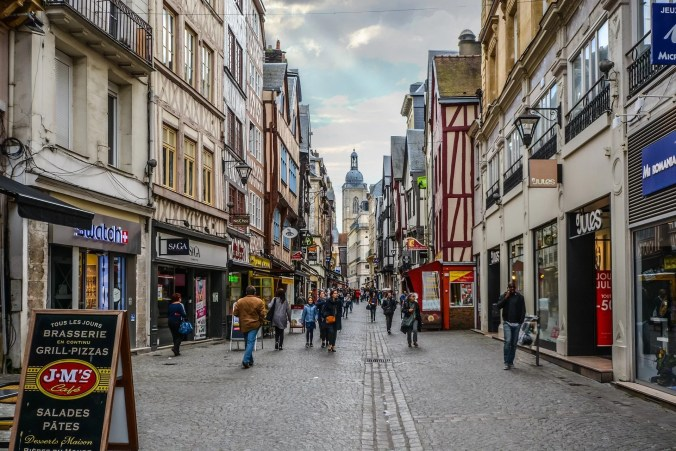 Rouen Travel - The street of the old town