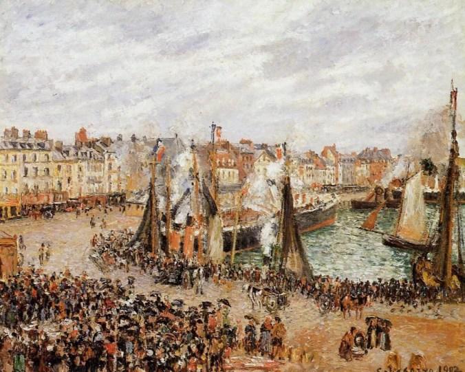 Camille Pissarro Painting - Dieppe Port