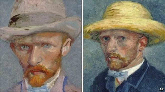 The Van Gogh brothers - Vincent left picture, Theo right picture