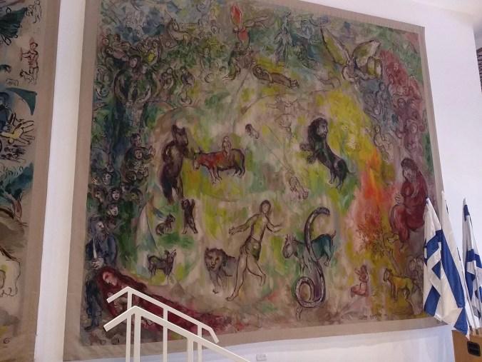 The right Chagall tapestry entitled: Isaiah's Prophecy