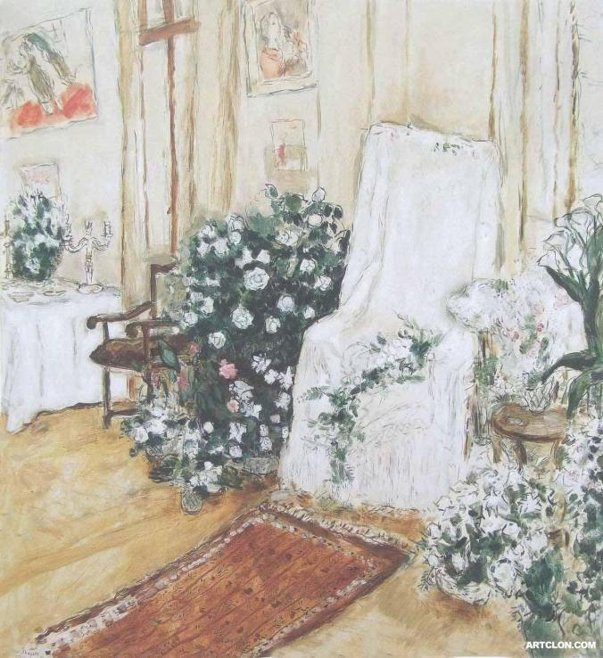 The Bridal Chair - Marc Chagall painting