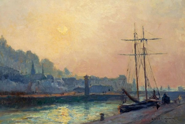 Honfleur Harbour - painting by Albert Lebourg