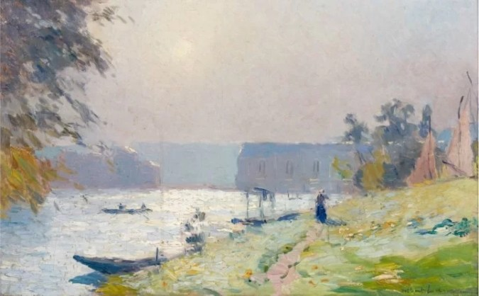 The Seine River - Albert Lebourg landscape painting