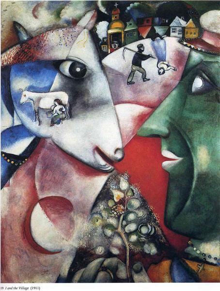 Chagall Painting - I and The Village 1911