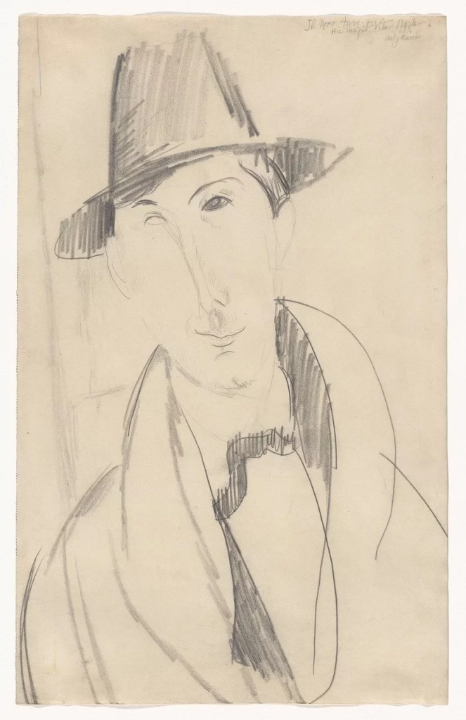 A Modigliani drawing of a man