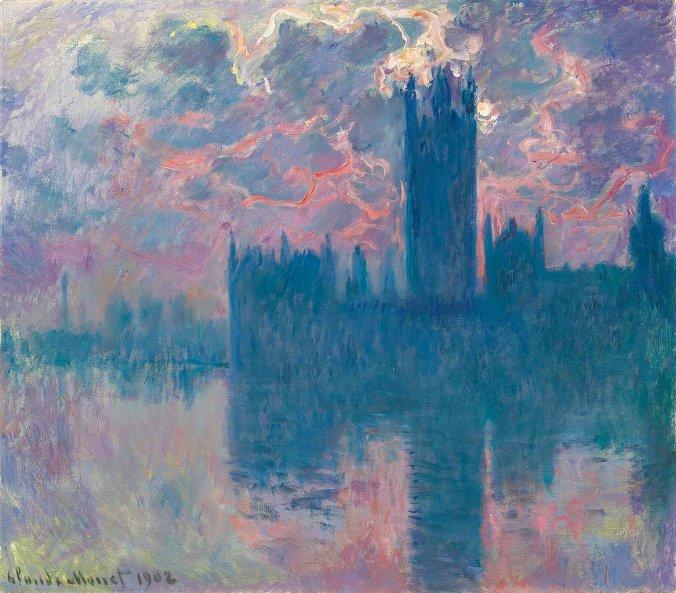 Impressionist Art-Monet London Series - Houses of Parliament