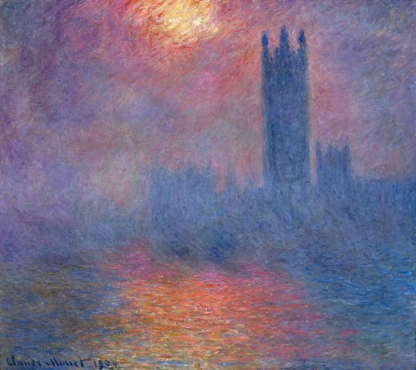 Houses of Parliament, London- Impressionism Painting - Claude Monet