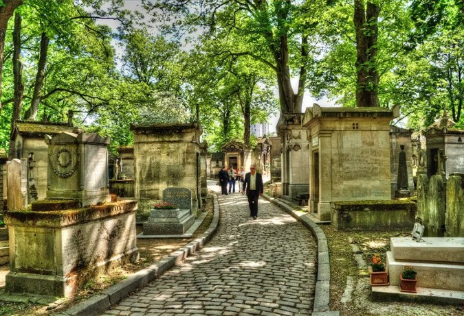 View of Pere-Lachaise Paris cemetery