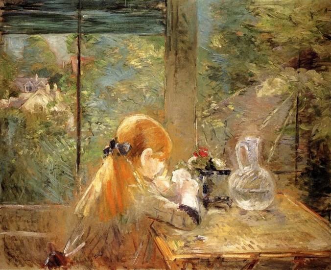 Berthe Morisot Painting - Red Hair Girl