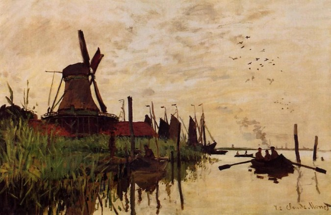 Windmills at Zaandam - Monet Famous Paintings