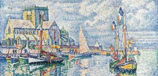 Barfleur Harbour - Paul Signac Painting