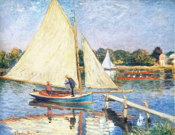 Boaters on the Seine River at Argenteuil - Monet