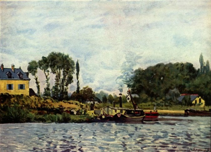 Bougival painting by Alfred Sisley