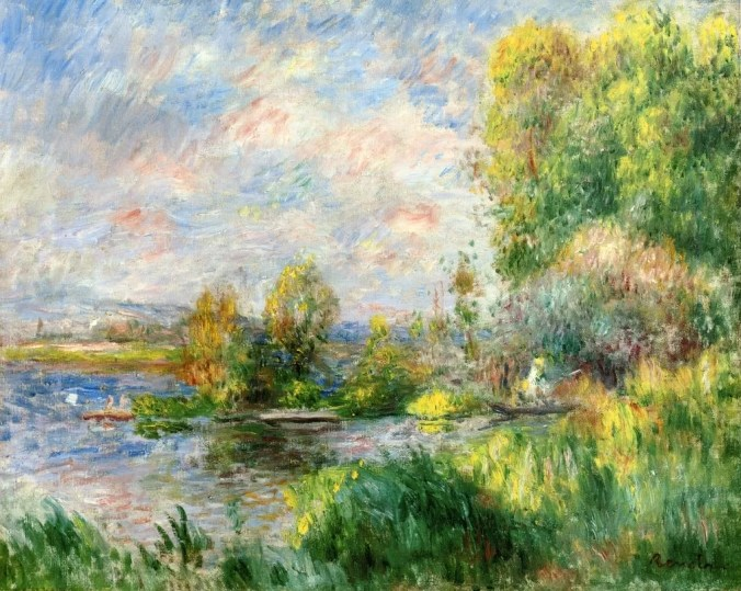 French landscapes of Bougival - painted by Renoir