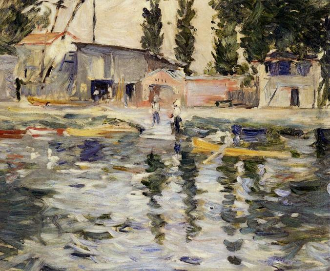 The Seine at Bougival - Berthe Morisot Painting