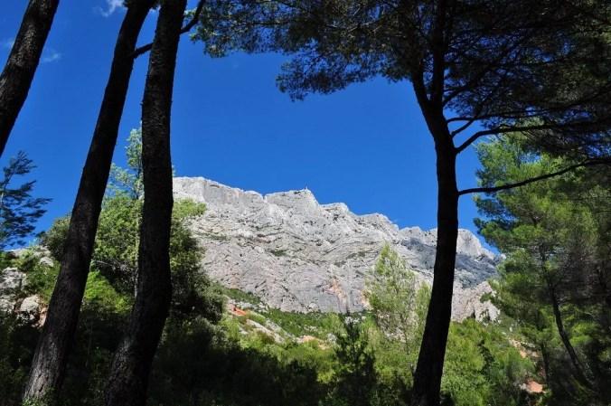 Provence travel - Sainte Victoire Mountain near Aix-en-Provence