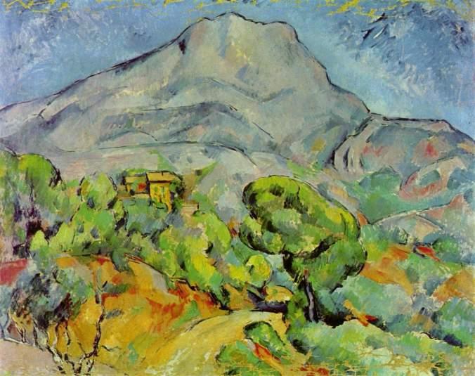 Paul Cezanne Painting; Mont Sainte Victoire
