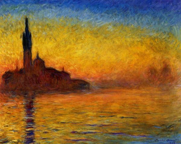 Venice landscape - Claude Monet Painting