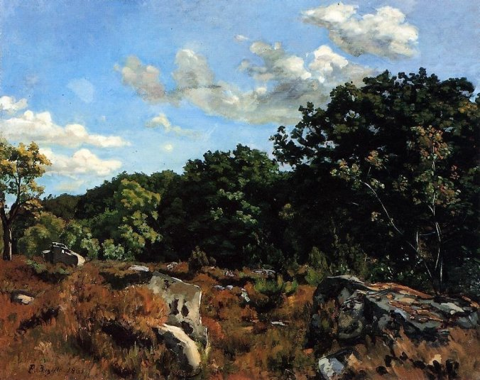 Frederic Bazille painting of Fontainebleau