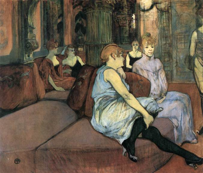 The Brothels of Montmartre - Toulouse-Lautrec Painting
