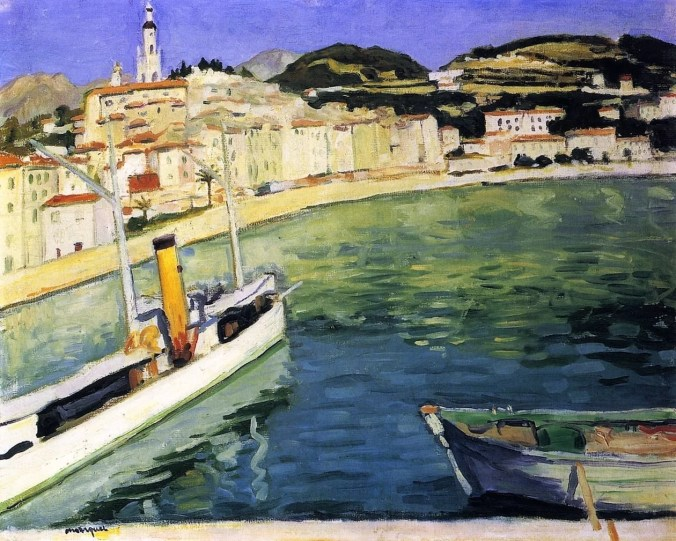 Harbour of Menton - Albert Marquet Painting