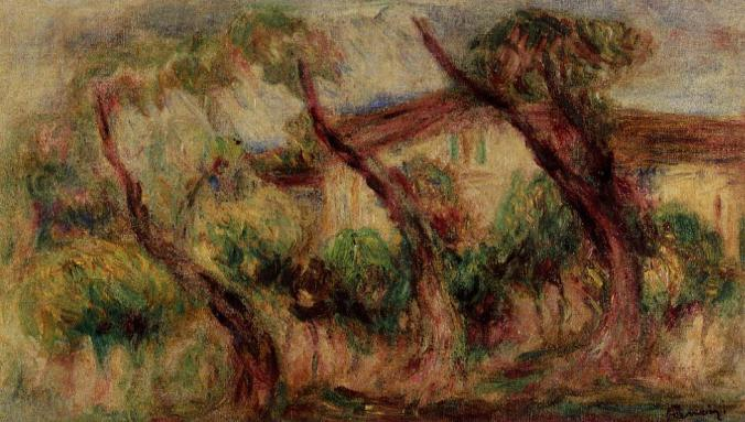 Renoir Painting of his Gardens in Cagnes-sur-Mer
