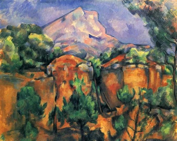 Cezanne's painting of Mont Sainte Victoire from the Bibémus Quarries