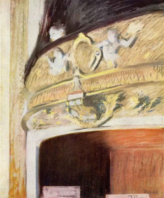 Impressionism Paintings - Edgar Degas - Box in the Opera Painting