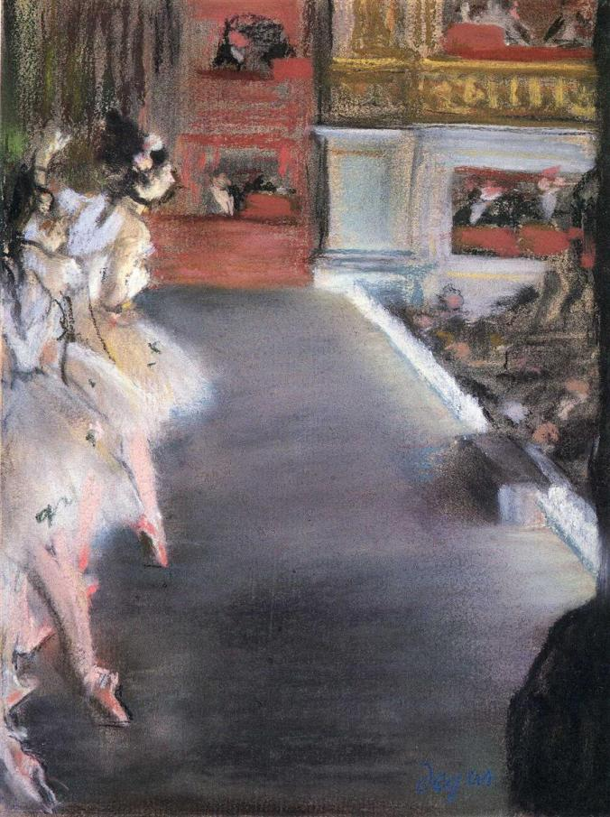 Dancers at the Paris Opera House - Degas pastels