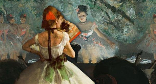 Degas Painting of Ballerinas