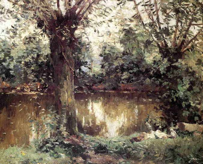The Banks of Yerres - Gustave Caillebotte painting