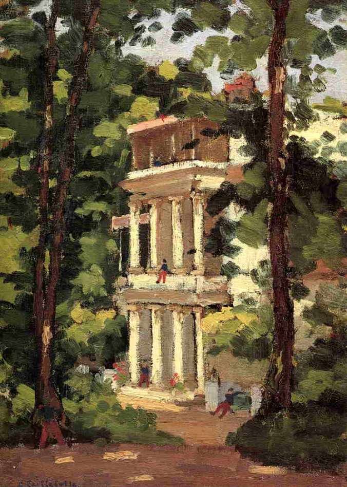 The Yerres Mansion - Gustave Caillebotte Painting
