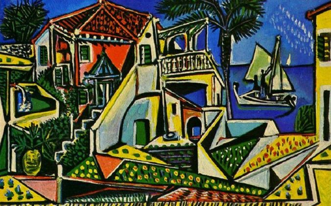 Pablo Picasso landscape of Southern France