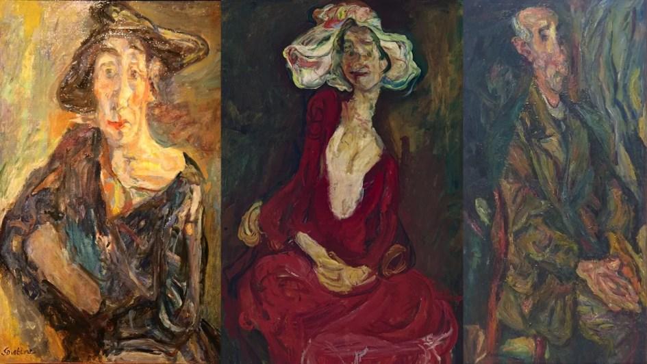three Chaim Soutine Portraits