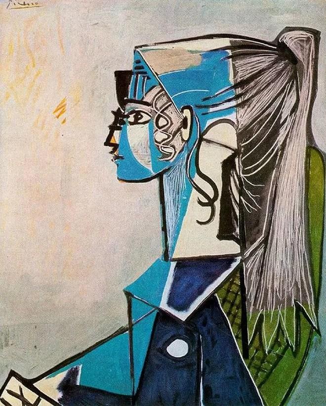 Sylvette - Pablo Picasso Portrait of his model Sylvette David [Public Domain]