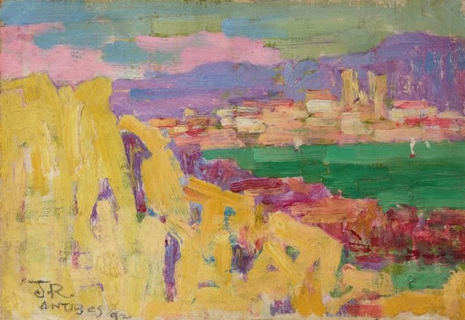 John Russell painting of Antibes - Fauvism style