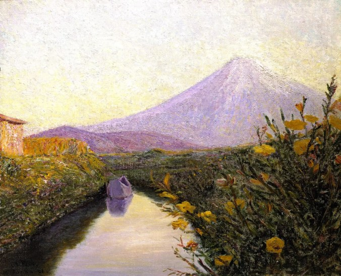 Fuji from the Canal - Lilla Cabot Perry Painting