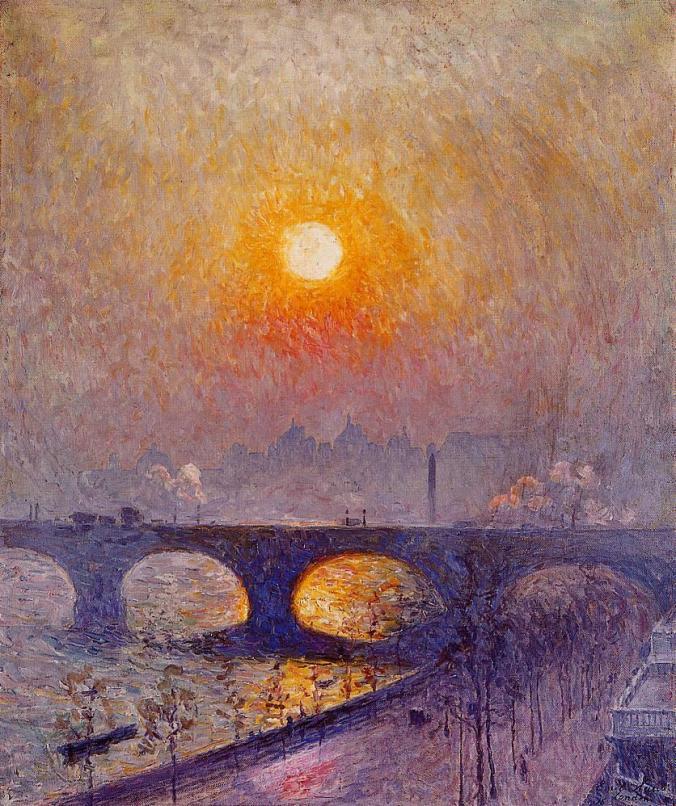 Waterloo Bridge London - Emile Claus painting