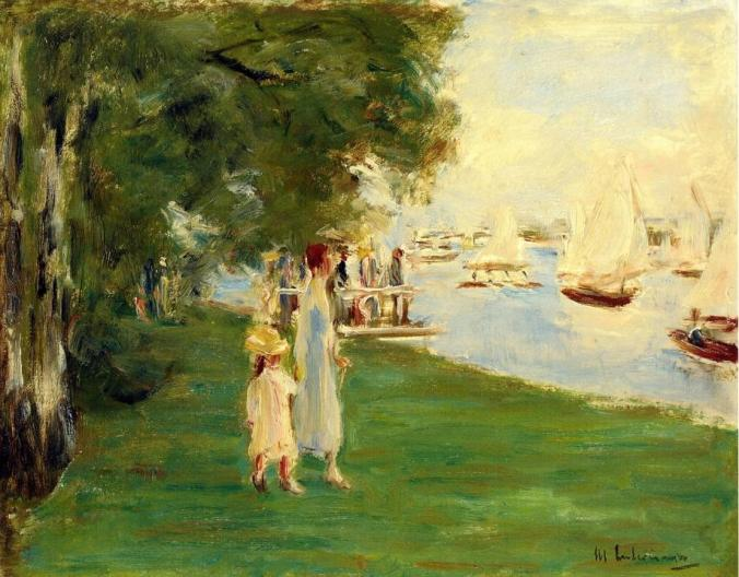 Max Liebermann painting incorporating techniques from French Impressionism Art