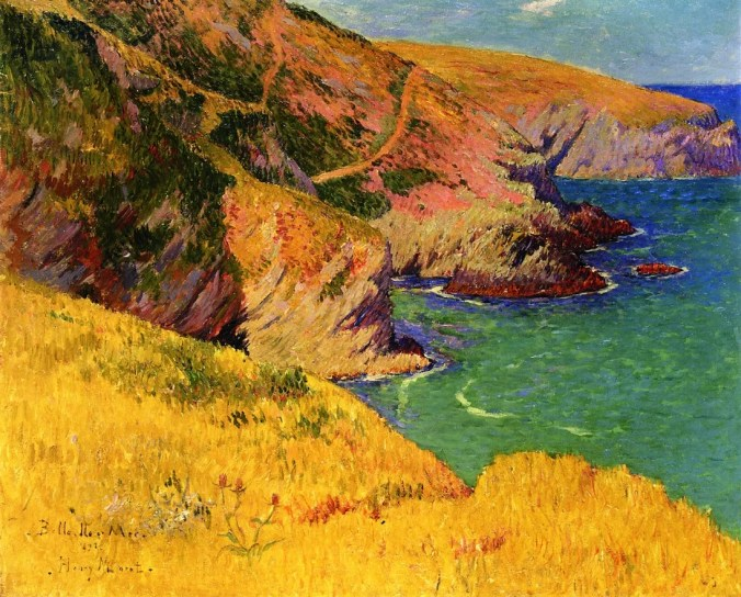 Belle-île-en-Mer, Cliffs Brittany - Henri Moret Paintings