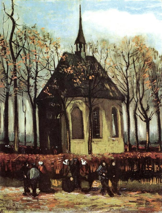 The Reformed Church of Nuenen - Van Gogh painting